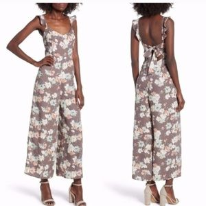 LEITH WIDE LEG FLORAL DRESS JUMPSUIT SMALL NEW